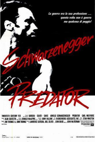Predator - Italian Style Poster