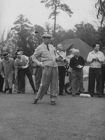 Pres. Dwight D. Eisenhower, Golfing Photographic Print