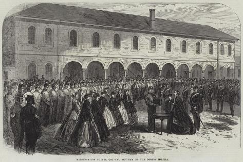 Presentation to Mrs Colonel Bingham by the Dorset Militia Giclee Print