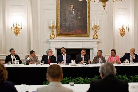 President Barack Obama Meets with Members of the Congressional Black Caucus Photo