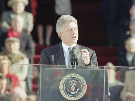 President bill clinton delivers his first inaugural for First president to be inaugurated on january 20