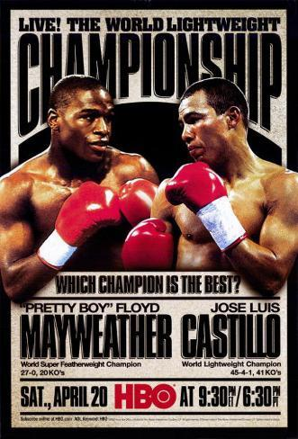 Pretty Boy Floyd Mayweather vs Jose Luis Castillo Masterprint