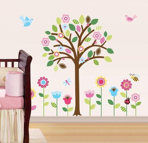Pretty Pastel Garden Adesivo de parede
