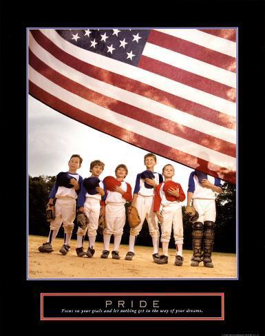 Pride: American Flag Art Print