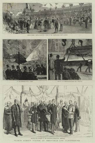 Prince Albert Victor at Sheffield and Cleethorpes Stampa giclée