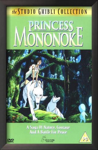 Princesa Mononoke Impressão artística emoldurada