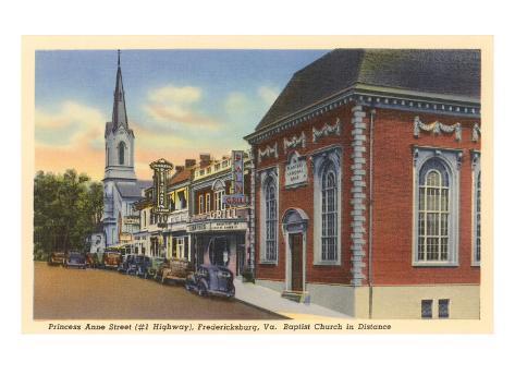 Princess Anne Street, Fredericksburg, Virginia Art Print