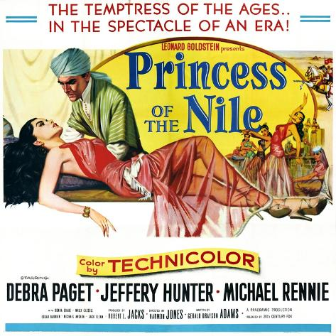 Princess of the Nile, from Left: Debra Paget, Jeffrey Hunter, 1954 Art Print