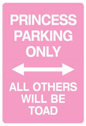 Princess Parking Only No Parking Pink Sign Poster Print Masterprint