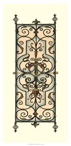 Printed Wrought Iron Panels II Giclee Print