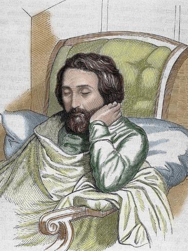 Heinrich Heine (Dusseldorf, 1797-Paris, 1856). German Writer by Weger and Singer, 1885 Photographic Print