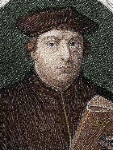 Martin Luther (Eisleben, 1483, Eisleben, 1546) Photographic Print