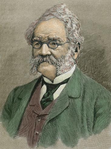 Werner Von Siemens (Lenthe, 1816-Charlottenburg, 1892). German Engineer Photographic Print