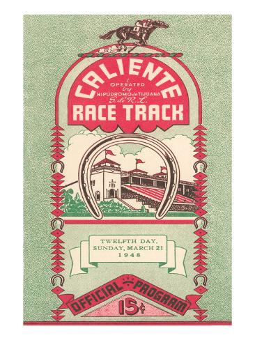 Program from Caliente Racetrack Art Print
