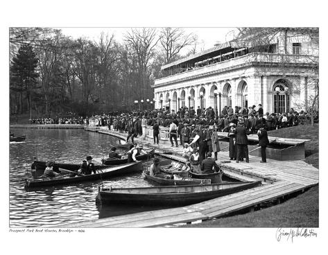 Prospect Park Boat House, Brooklyn, c.1906 Art Print