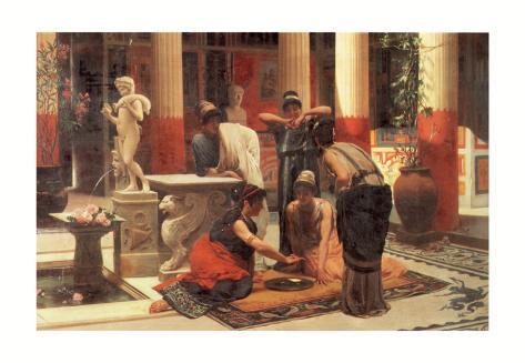 Pompeian Interior II Art Print
