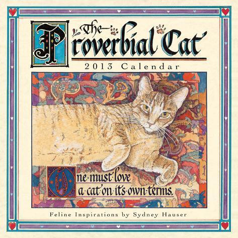Proverbial Cat  - 2013 12-Month Mini Calendar Calendars