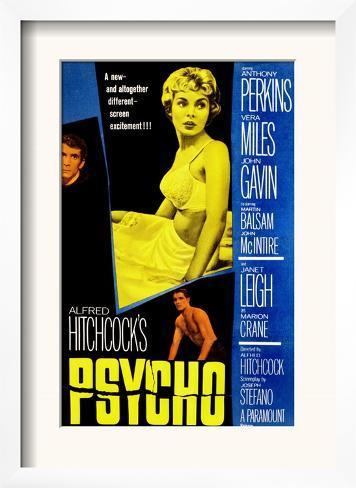 Psycho, Anthony Perkins, Janet Leigh, John Gavin, 1960 Framed Art Print