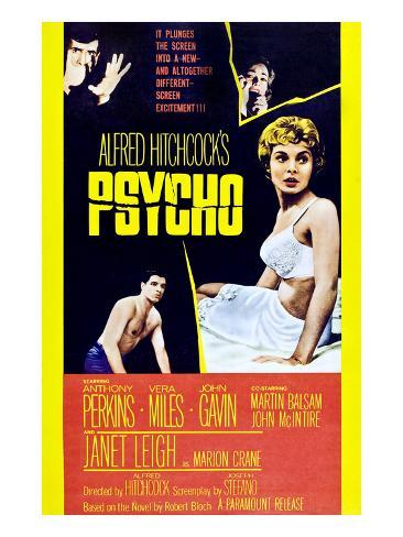 Psycho, Anthony Perkins, Vera Miles, Janet Leigh, John Gavin, 1960 Photo