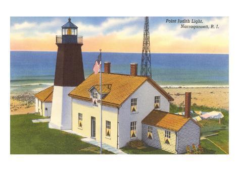 Pt. Judith Lighthouse, Narragansett, Rhode Island Art Print