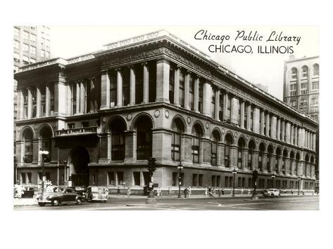 Public Library, Chicago, Illinois Art Print