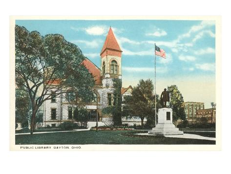Public Library, Dayton, Ohio Art Print