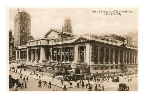 Public Library, New York City, Photo Art Print