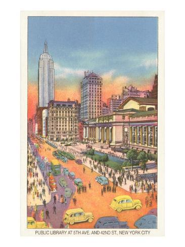 Public Library, New York City Art Print