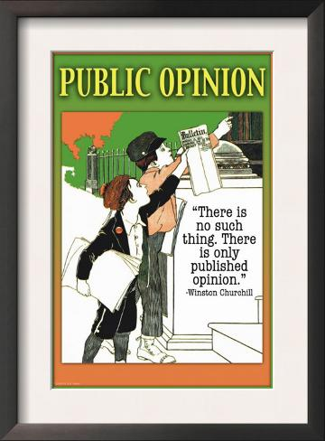 Public Opinion Framed Art Print