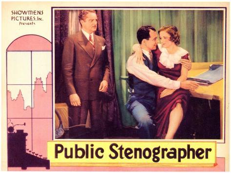 Public Stenographer, 1934 Art Print