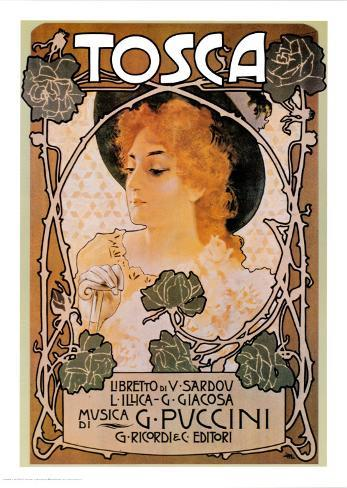 Puccini, Tosca Art Print