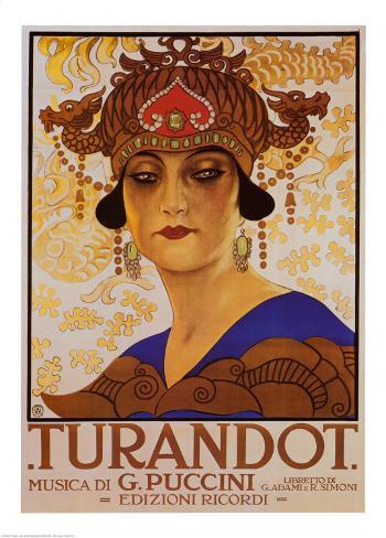 Puccini, Turandot Art Print