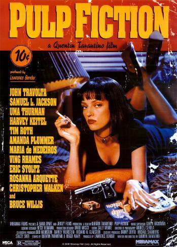Pulp Fiction, film de Quentin Tarantino, 1994 Affiche géante