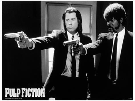 Pulp fiction guns movie poster print
