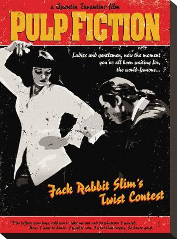 Pulp Fiction (Twist Contest) Stretched Canvas Print