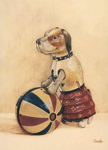 Puppy Toy Art Print