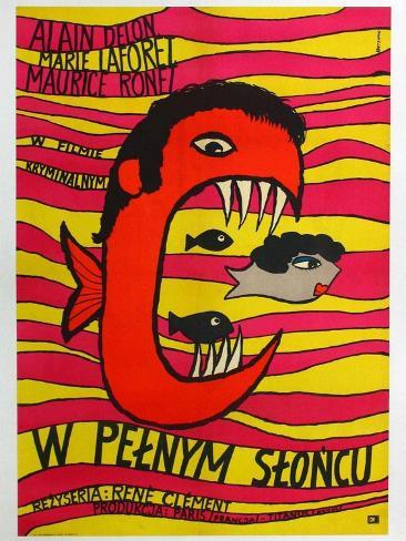 Purple Noon, Polish Movie Poster, 1964 Art Print