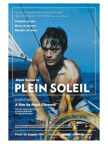 Purple Noon, UK Movie Poster, 1964 アートプリント