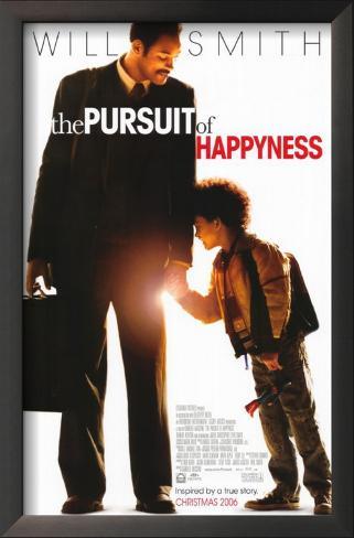 Pursuit of Happyness Impressão artística emoldurada