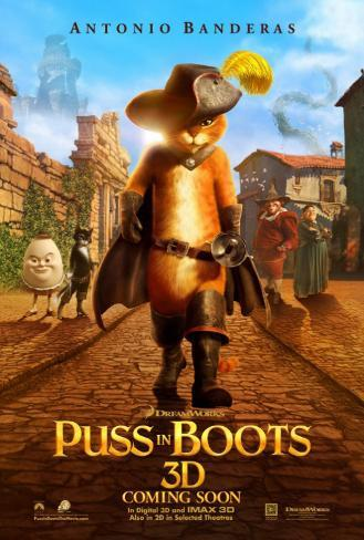 Puss In Boots Double-sided poster