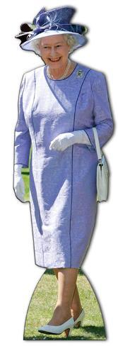 Queen Elizabeth Lilac Dress Lifesize Standup Figura de cartón