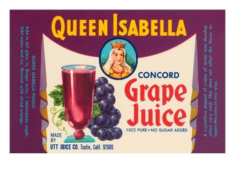 Queen Isabella Concord Grape Juice Stretched Canvas Print