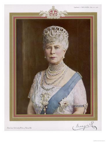 Queen Mary Wife of George V in 1935 Giclee Print