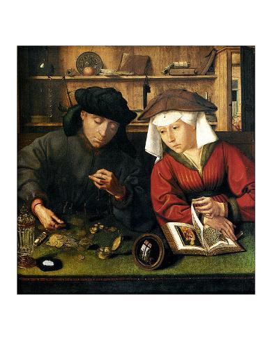 Money Changer with Wife Giclee Print