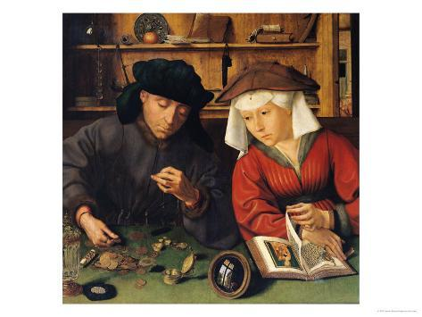 The Money Lender and His Wife, 1514 Giclee Print