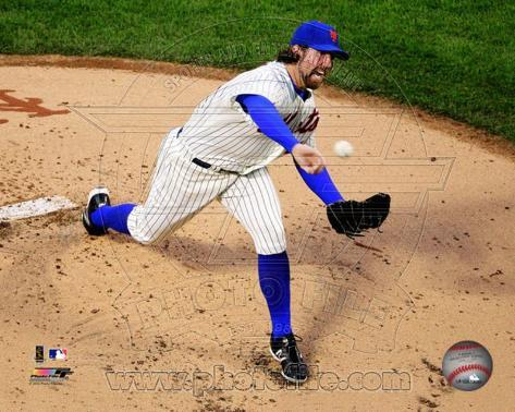 R.A. Dickey 2012 Action Photo