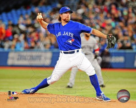 R.A. Dickey 2013 Action Photo