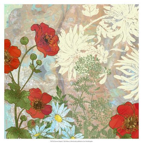 R Collier Artist Summer Poppies I Art b...