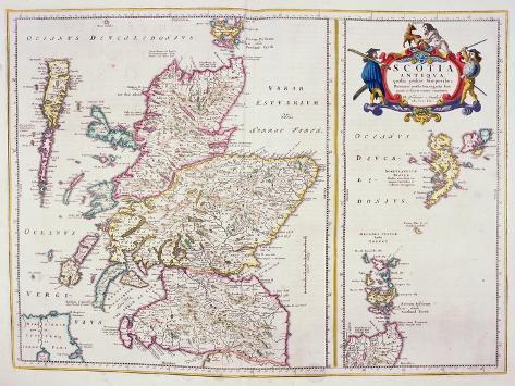 Map of Scotland, c.1700 Giclee Print