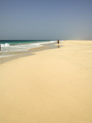 Praia De Santa Monica (Santa Monica Beach), Boa Vista, Cape Verde Islands, Atlantic, Africa Photographic Print